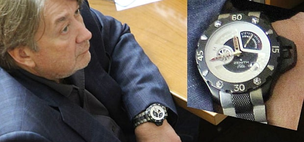 Александр Абдуллин и его часы «Zenith Defy Xtreme»